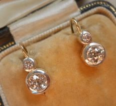 Beautiful  1,1 ct SI-VS clarity Diamond GOLD earrings