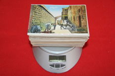 Lot of 210 postcards for collection, Asia, Middle East area, many different postage interesting, animated, all pictured.