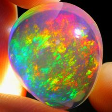 Splendid ContraLuz Crystal Opal - 19.4 x 16.7 x 13.4 mm - 22.98 ct