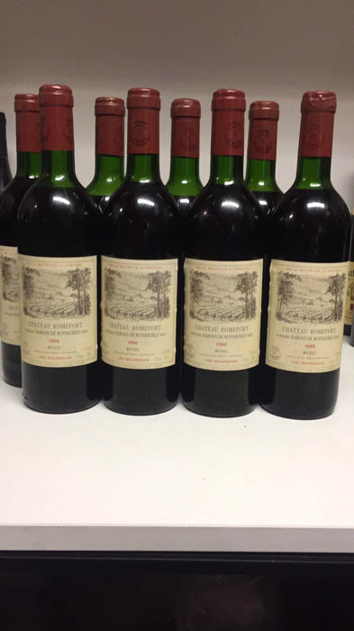 1986 Domaines Barons De Rothschild Chateau Romefort Cru Bourgeois, Medoc - 8 bottles (0,75l)