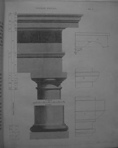 Asher Benjamin - The Architect, Or Practical House Carpenter: Being A Complete Development Of The Grecian Orders Of Architecture [...] Sixth Edition - 1845