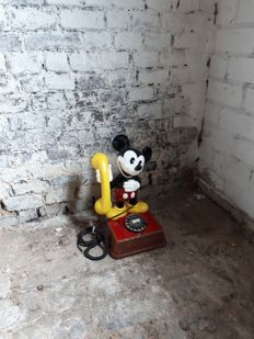Mickey Mouse dial telephone of Walt Disney.