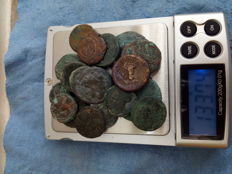 Ancient Greece, Sicily, lot composed of 20 AE coins from IV and V century BC
