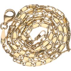 14 kt – Yellow gold Figaro link necklace – Length: 41 cm
