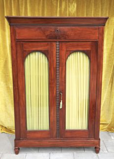 A Biedermeier mahogany display cabinet / bookcase - The Netherlands - circa 1850