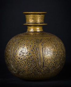 Huqqa brass base - India - 18th century (Mughal period)