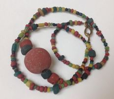 Strand of ancient glass Indo Pacific trade wind beads, over 1000 years old