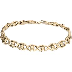 14 kt - Yellow gold fantasy link bracelet – Length: 20 cm