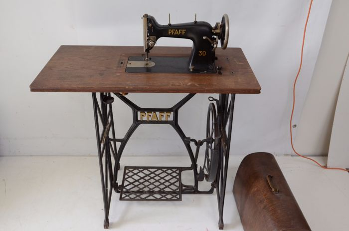 PFAFF Pedal Sewing Machine With A Cast Iron Base Ca 40 Catawiki Interesting Antique Pedal Sewing Machine