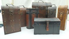 Lot of 7 nice wooden cases/wine cases