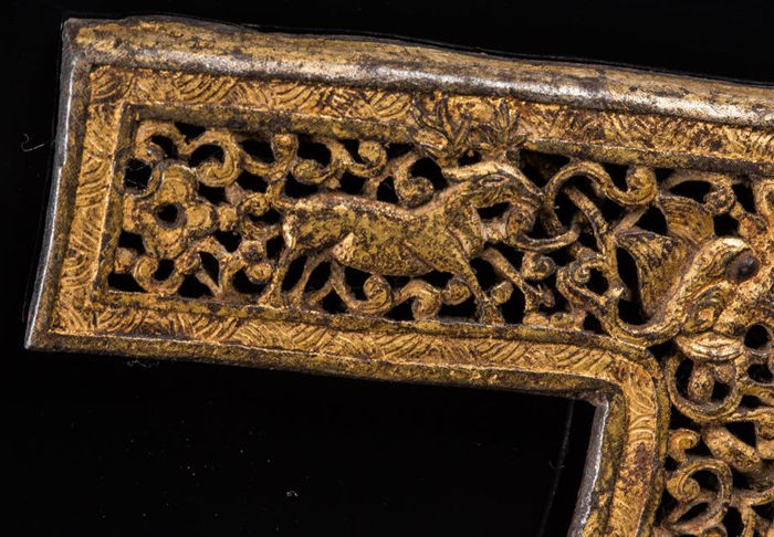 Element in gilt copper - Tibet - 16th century