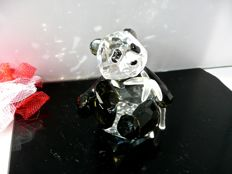 Swarovski - Panda Cub with bamboo stem.