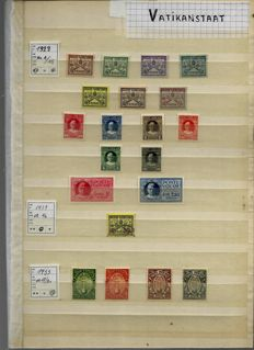 Vatican City - batch between stamp number 1 and the year 1945 on stock cards