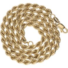 14 kt – Yellow gold rope link necklace – Length: