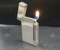 S.T. Dupont Dupont lighter, striped pattern, France, late 20th century.
