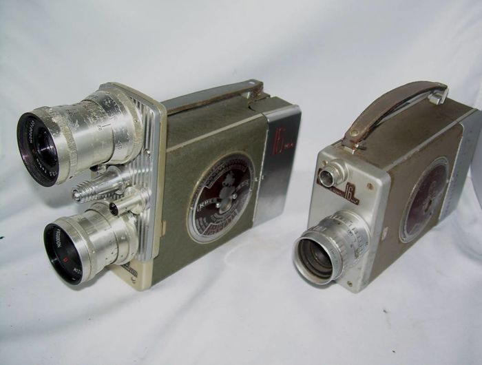 Special G.B.-Bell & Howell Auto Load plus Киев 16 C-2 (KIEV 16 S-2, Sovjet imitation of Bell & Howell 200)