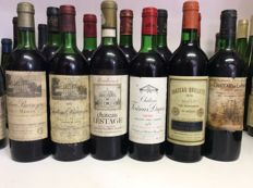 70s, 80s, 90s & 2000s Mixed lot Bordeaux - 12 bottles 0,75l
