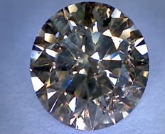 Diamond, 1.81 ct – Round Cut – Vivid Brown, SI2.