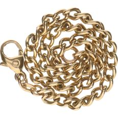 14 kt – Yellow gold curb link bracelet – Length: 19 cm