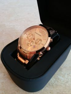 Emporio Armani Renato Rosegold - Chronograph - Men's watch - 2017
