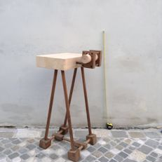 Luciano Biscarini - Chopping Board/Console With rolling pin incorporated