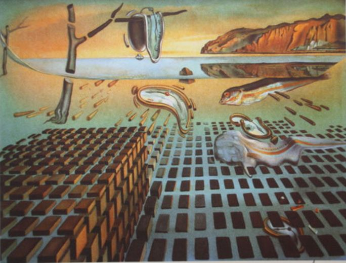 Salvador Dali (d'après) - The Disintegration of the Persistence of Memory