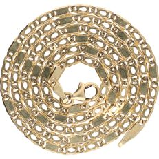 14 kt - Yellow gold Figaro link necklace - length: 50.6 cm