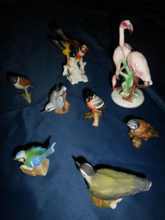 Collection of Goebel Porcelain Birds