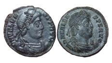 The Roman Empire - Lot of two Æ - Valens, Emperor of the Eastern Roman Empire, 364-378 AD