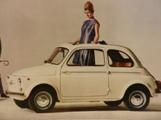 FIAT 500 and 600, Steyr 500 and Neckar 770 brochures and manual. 1960s, 9 copies.