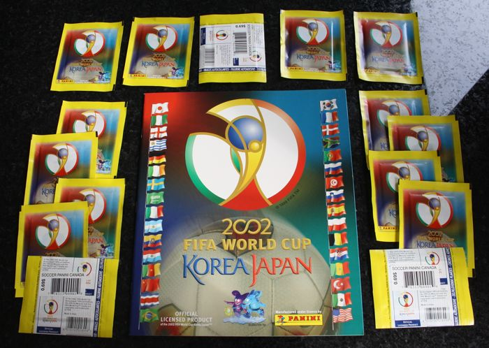 Panini - FIFA World Cup 2002 Japan & Korea - Original empty album + 15 original unopened packets