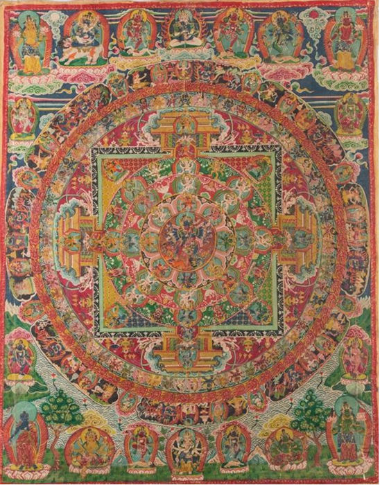 Thangka depicting Cakrasamvara Mandala - Nepal - early 19th century