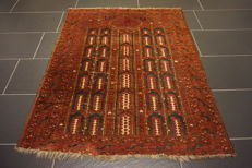 Antique hand-knotted Persian collector's carpet Beluch made in Iran 110X135 cm