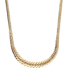 14 kt yellow gold J-link necklace - length: 43 cm
