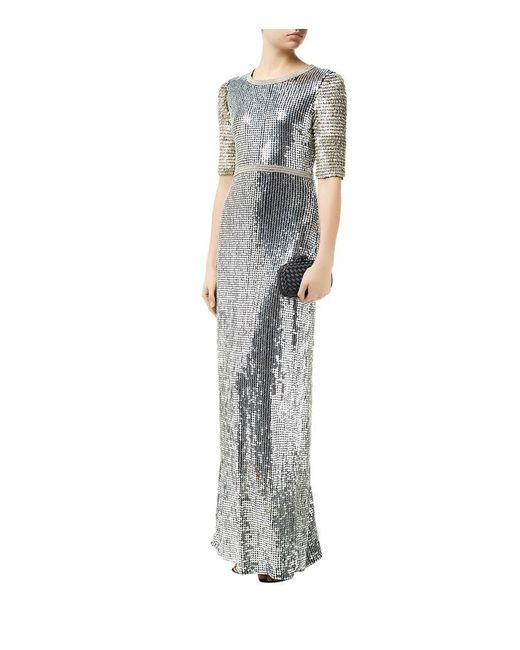 Diane Von Furstenberg- Dress - Winston Sequined Half Sleeve Gown ...