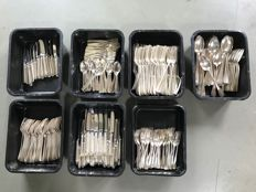 Large amount of hotel silver cutlery most of Savoy Hotel