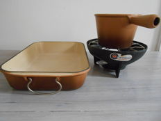 ' LE CREUSET ' - Oven dish and Fondue set in cast iron