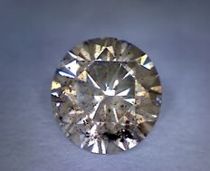 Diamond — 0.87 ct — Round Cut — Fancy Brown — I1