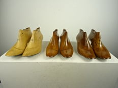 Three pairs of ladies' shoe moulds - France - first half of the 20th century