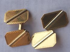 18 kt yellow gold cufflinks