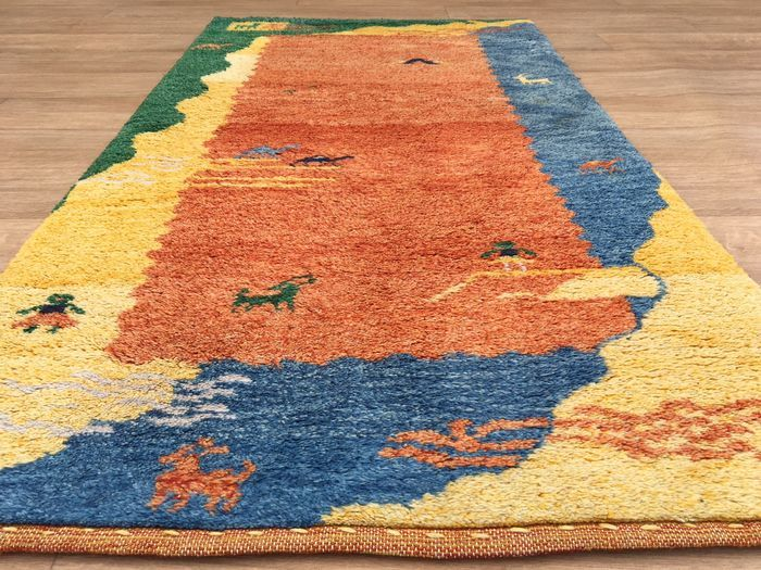 GABBEH - nomad carpet with certificate of authenticity - approx. 162 x 80cm - very good condition!
