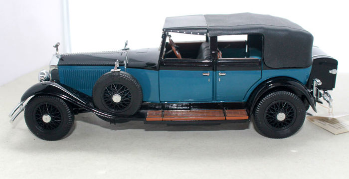 Franklin MInt - 1929 Rolls Royce Phantom I blue-black, scale 1:24