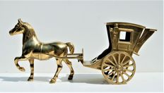 Brass Horse and carriage (48 cm!)