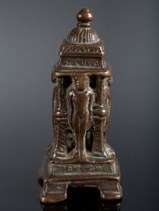 Miniature of Adinath, Jaina Sanctuary - North India - copper, 11th century (dated 1109 (1053 A.D.)