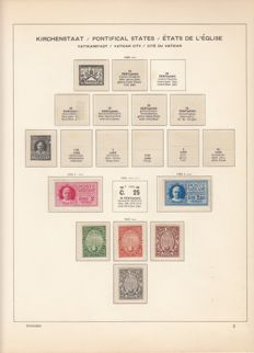 Vatican 1929-1954 on album pages