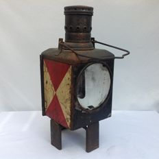 Train lamp / Signal lamp in original condition