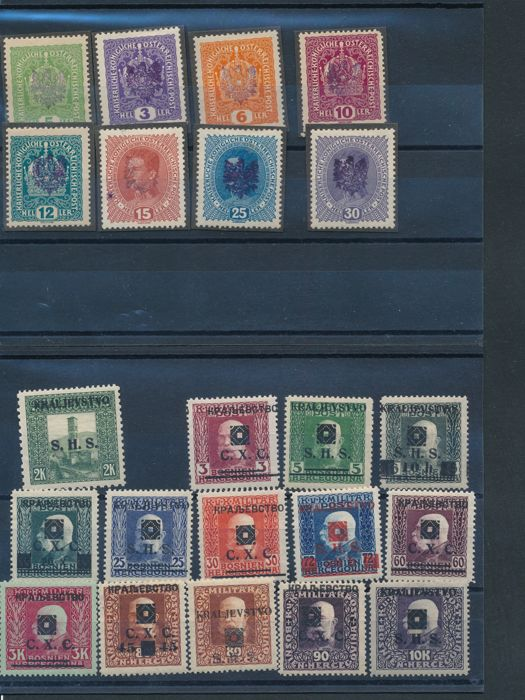 Austria & Bosnia and Herzegovina - Collection on stock pages