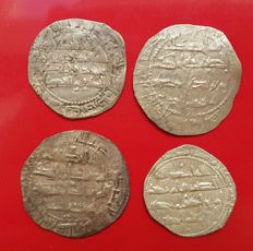 Spain - Lot of 4 Dirham in silver, Al Hakam I. Al-Andalus.