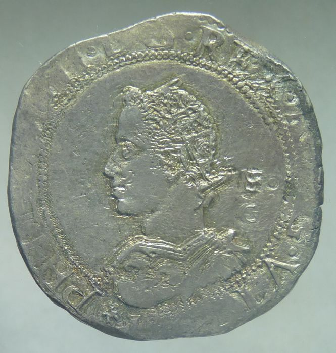 Kingdom of Naples -- ½ Ducat 1609 (without date), Filippo III -- silver