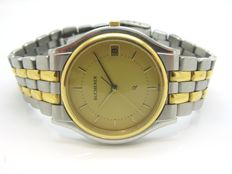 BUCHERER watch ref. 955.702 - 18 kt gold and steel case and bracelet - 1990s - in very good condition